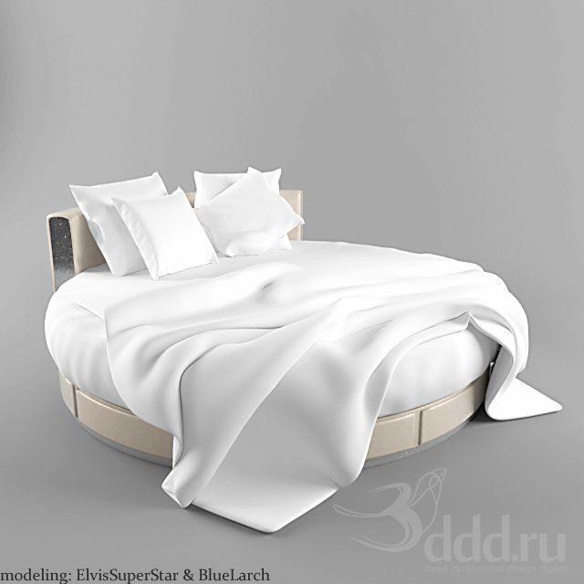 Bed 3dsmax 2010 Obj Vray Bed 3dsky 3d Models Bed Round Beds Bedroom
