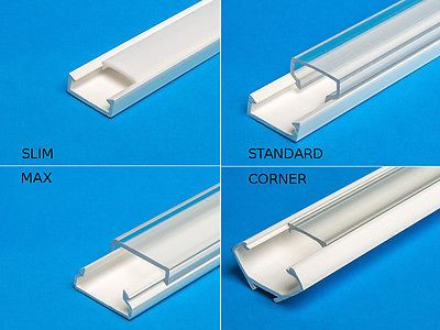Details about 2M (6 6 ft) PVC channel for LED Strip Light