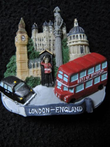 London England Big Ben Parliament Souvenir Refrigerator Magnet Bus Resin Figural | eBay