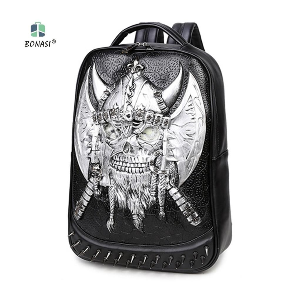 f2b0fc91a2b1 Hot 2018 Hip-Hop Style Ax Corsair Fluorescent Unisex backpack PU leather  Backpack mochila waterproof