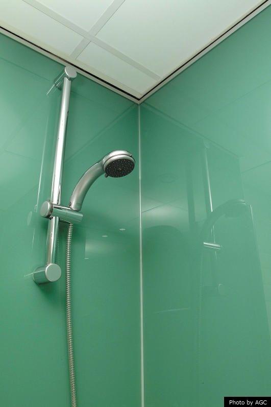 glazen achterwand douche inspirerend wonen.be | Glas | Pinterest
