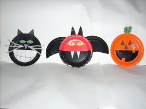Halloween Paper-Plate Crafts for Children - Yahoo! Voices - voices.yahoo. & Halloween Paper-Plate Crafts for Children - Yahoo! Voices - voices ...