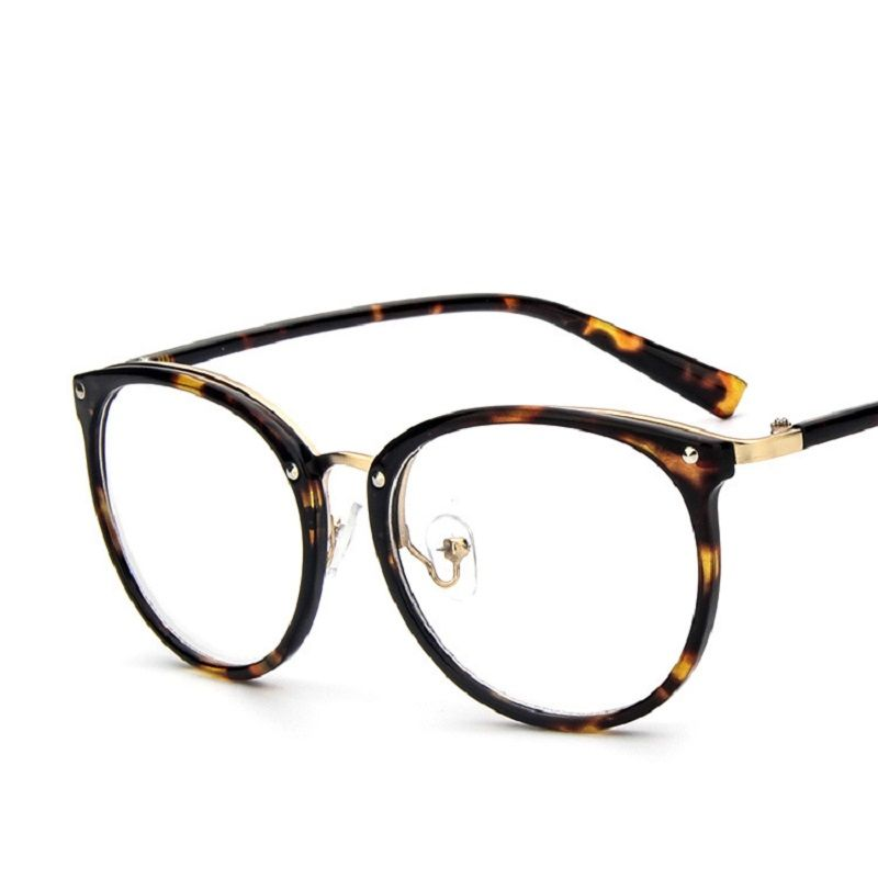 7cdb47e7aa Retro Women Clear Lens Eyeglasses Unisex Fashion Big Round Frame Eye  Glasses Frames Computer Glasses Spectacles