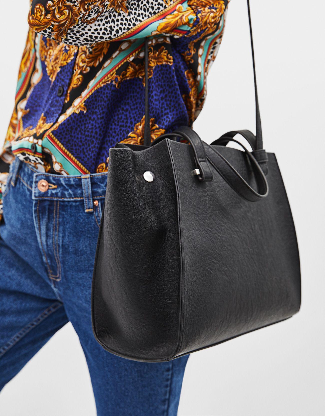 86ccbd90afde کیف چرم مصنوعی مشکی دوشی زنانه برشکا