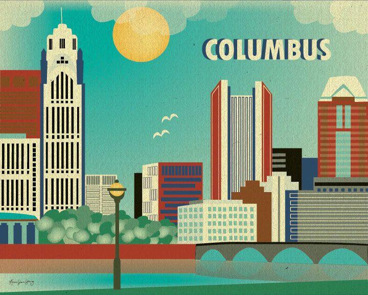 Columbus Skyline Print Ohio Wall Art Columbus Wall Art Etsy Ohio Wall Art Ohio Skyline Columbus Wall Art