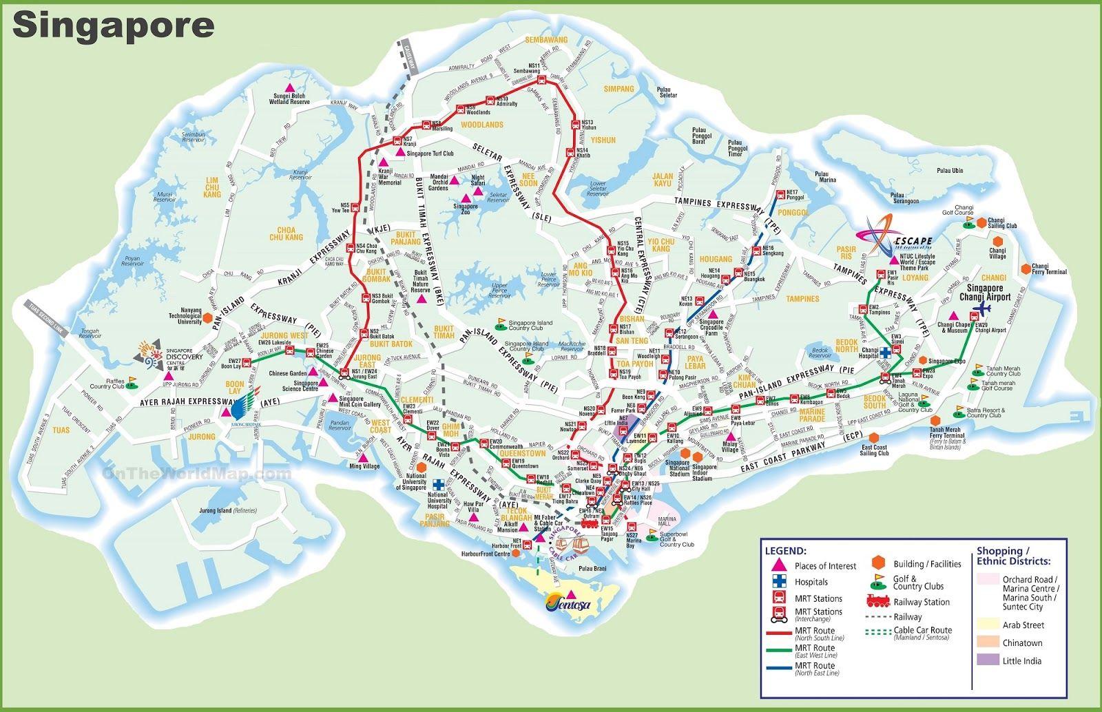 Peta Singapura Hd Lengkap Dan Keterangannya Universal Studios Peta General Hospital