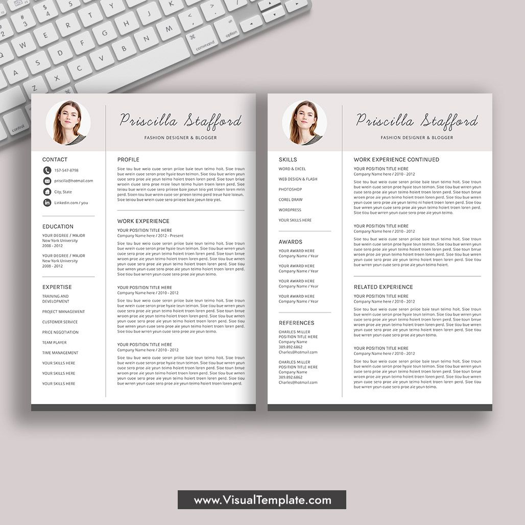 20192020 PreFormatted Resume Template with Resume Icons