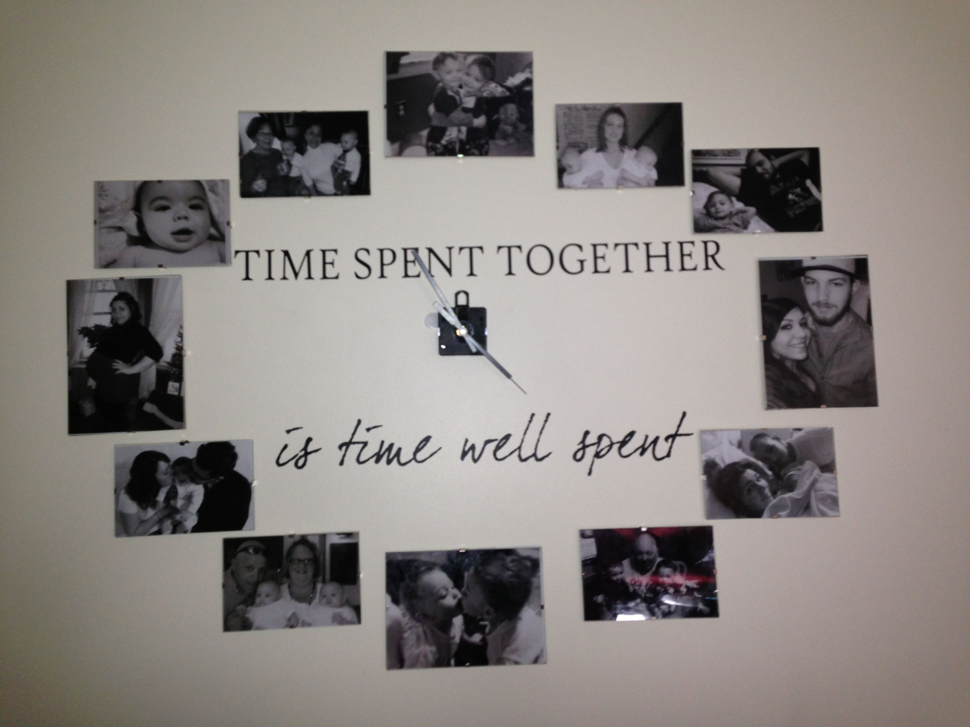 picture frame clock time spent together is time well spent