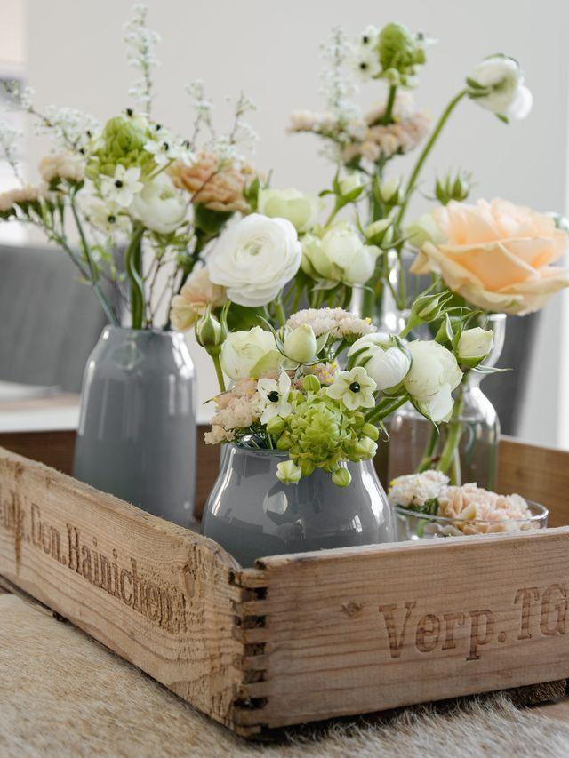 Dekoration Frische Blumen Frühlingsdekoration Und