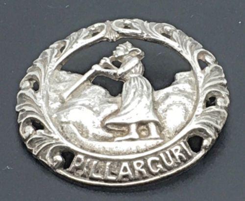Pillarguri-Silver-Brooch-Pin-Ivar-T-Holt-Holth-Norwegian-Woman-Girl-Legend-830-S