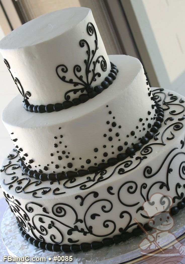 Fb C Wedding Cakes Cupcakes Desserts Favors Black And White Wedding Cake White Wedding Cakes Cream Wedding Cakes