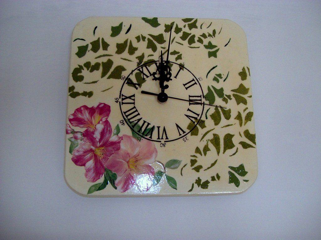 orologio edera e fiori (NON DISPONIBILE), by Creazioni di Evelyn, 10,00 € su misshobby.com