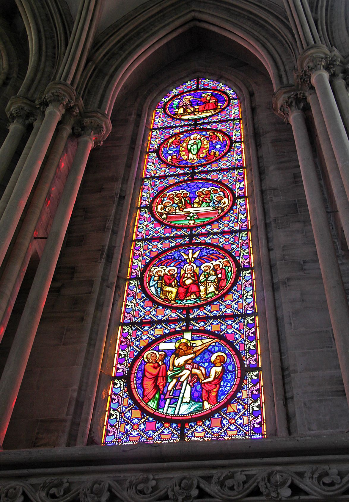 Bayeux Cathedral France Stained Glass Window Stained Glass Stained Glass Windows Glass