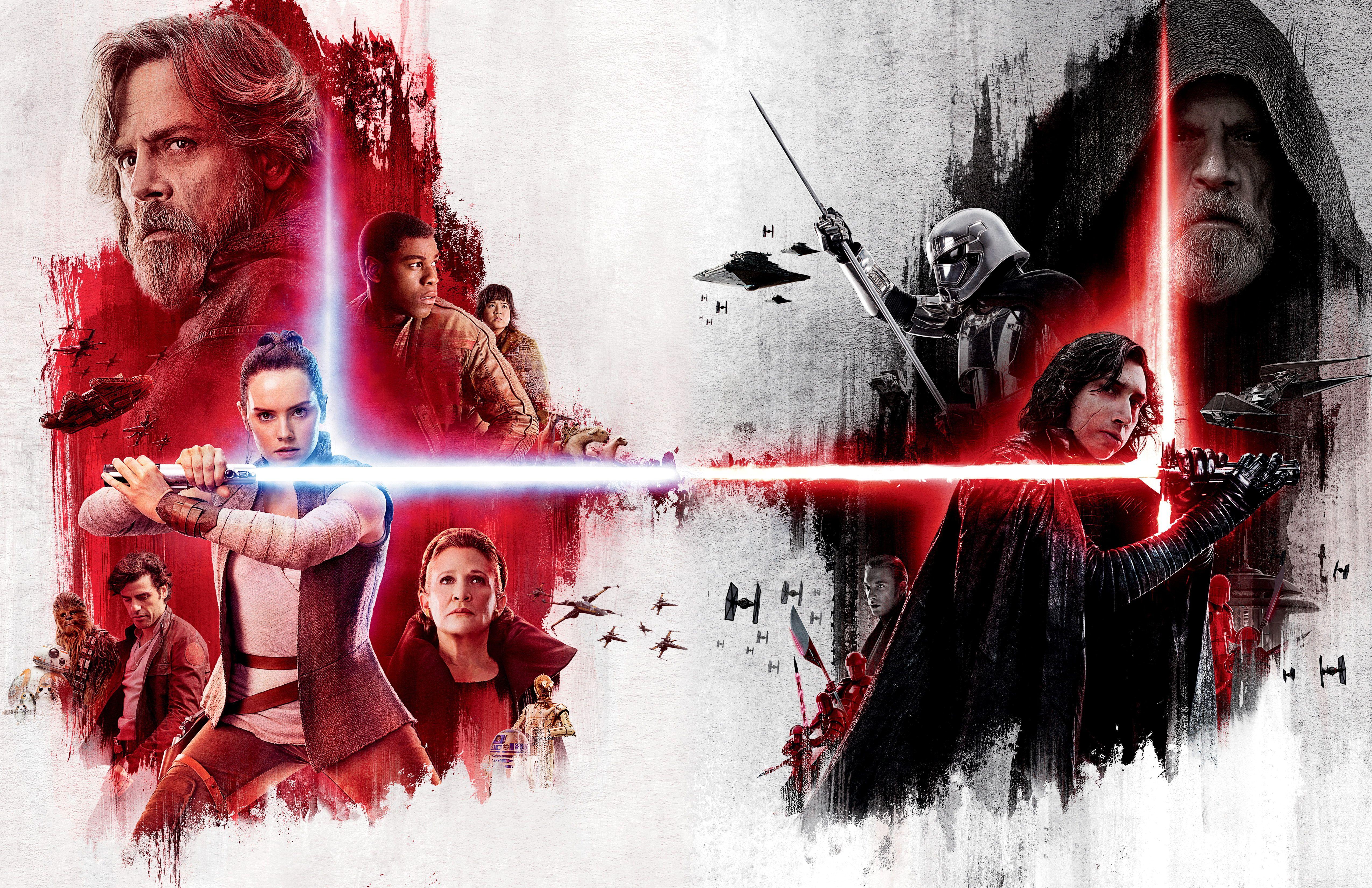 Rey 5k Kylo Ren Key Art Star Wars The Last Jedi 2017 4k