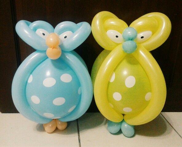 OWL you need is love ♡ #cebuballoons #balloontwist #owl #dottedballoons #longballoons