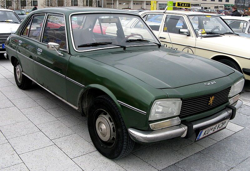 Peugeot 504 This Is My First Car Dark Green For The Heart