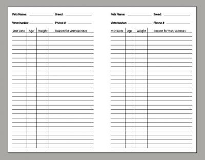 Pet Care Records    wwwdiyplanner templates directory?page - fresh cat birth certificate free printable