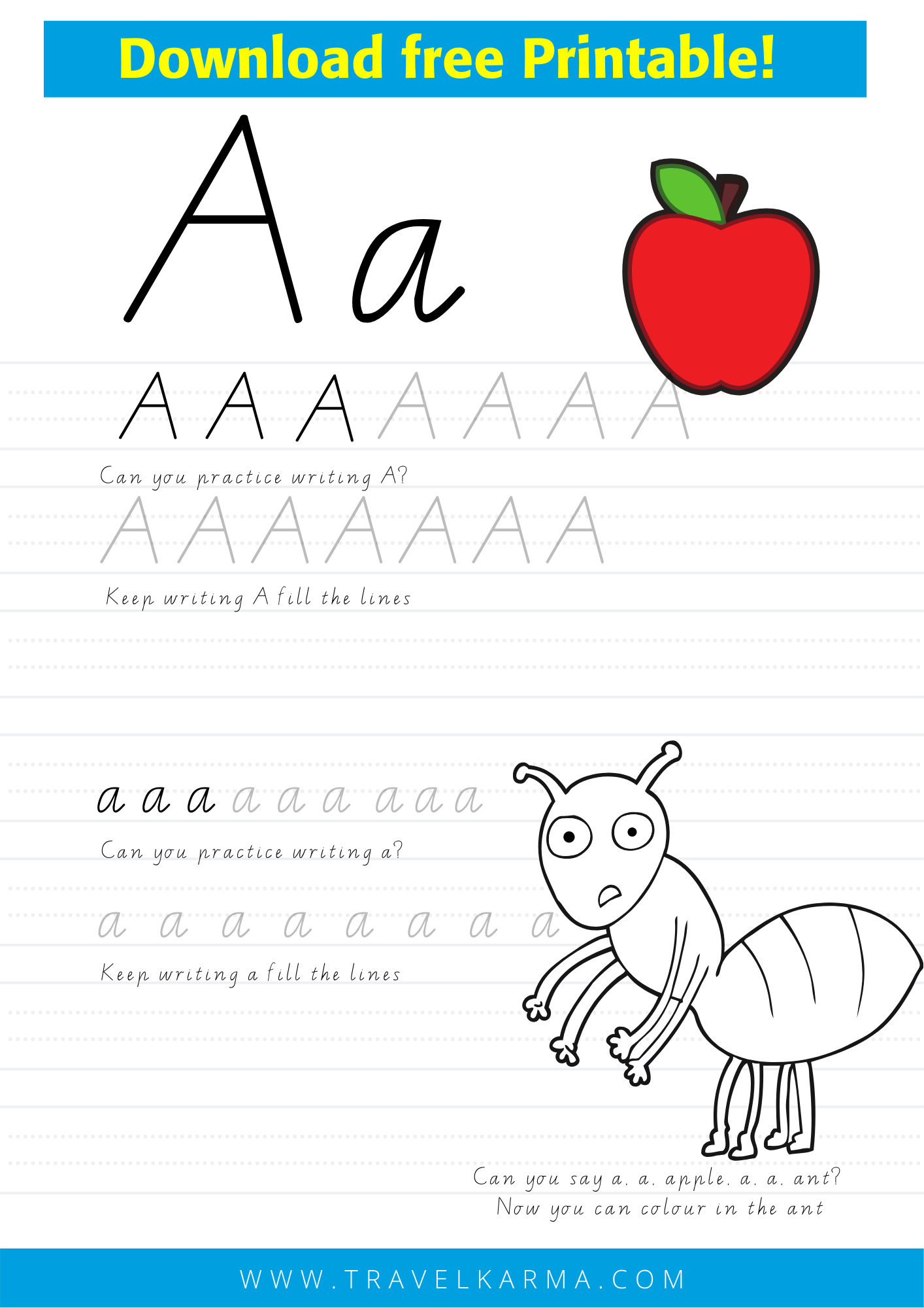 Free Alphabet Worksheets Printable To Learn Abc And Handwriting Alphabet Worksheets Preschool Learning Abc Alphabet Worksheets [ 2000 x 1414 Pixel ]
