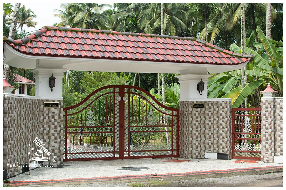 Kerala Padippura Designs House Fence Design House Gate Design Village House Design