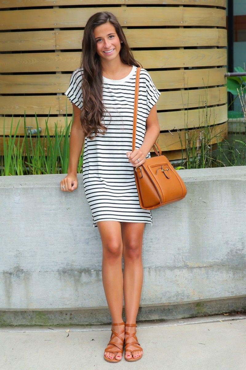 8cd96caedac4 Striped T Shirt Dress