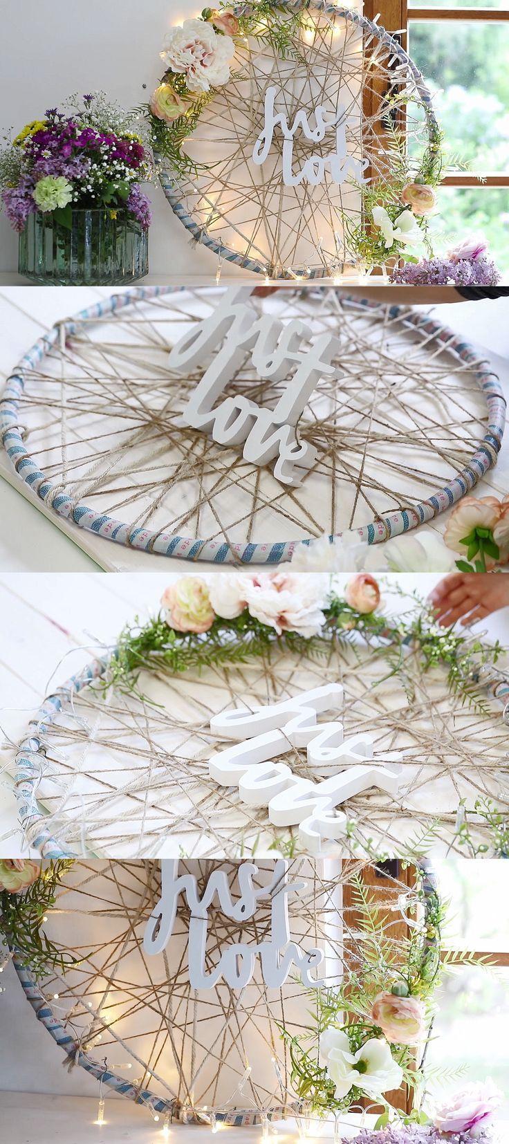 Photo of Hula Hoop als geniale Idee für die Hochzeitsdekoration