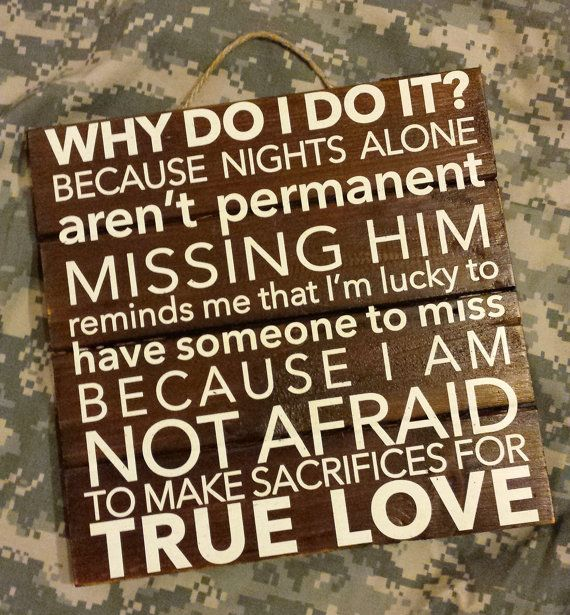 Deployment Wall Art- Military Spouse- True Love