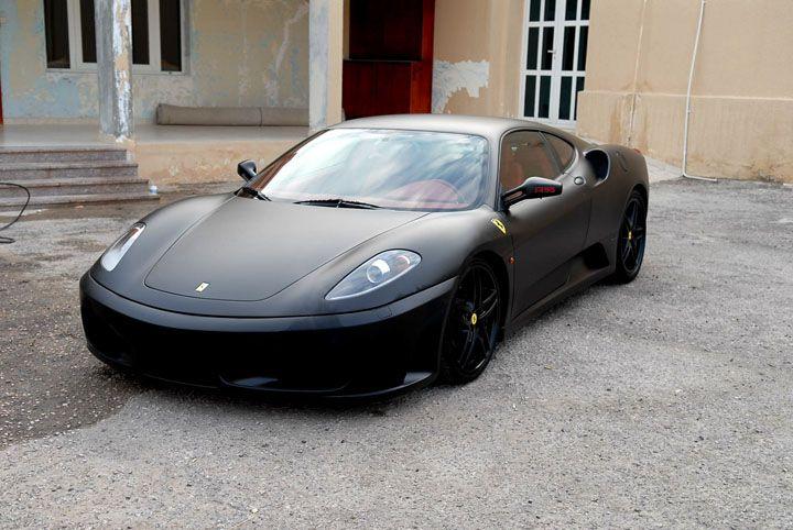justin bieber matte black ferrari f430 celebrity carz flat black