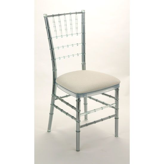 clear chiavari chairs will be used at this valentine's day wedding