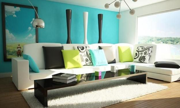 modern interior decorating with turquoise colors home Pinterest