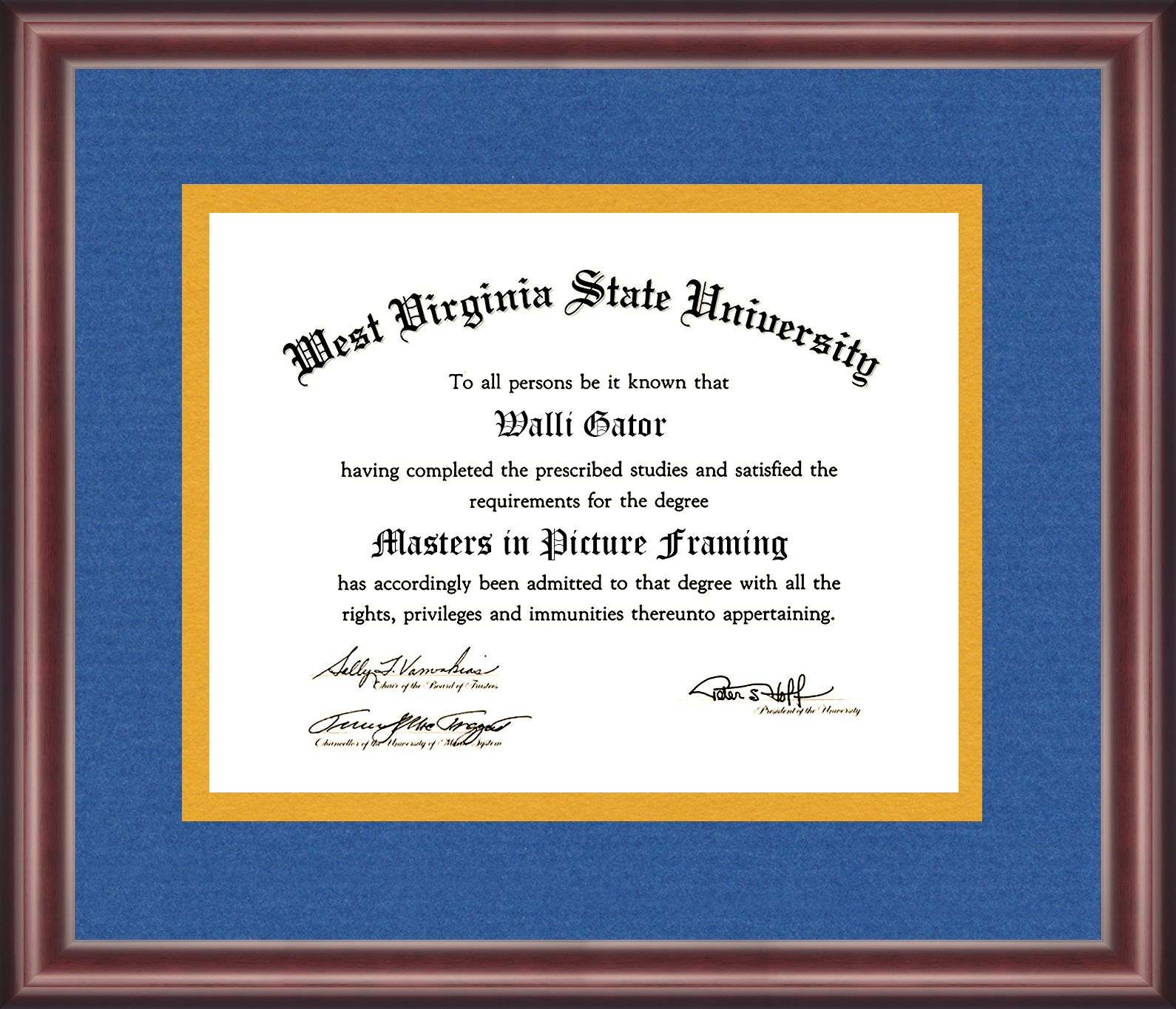 West Virginia State University Diploma Frame With Images