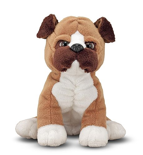 Boxer Puppy Dog Stuffed Animal