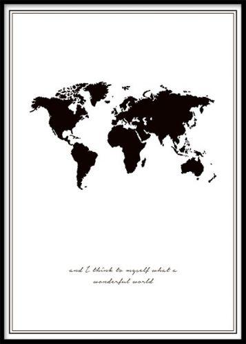 Posterit Ja Julisteet Koossa I X Cm Taulut Netistä Deseniofi - Map of the world poster black and white