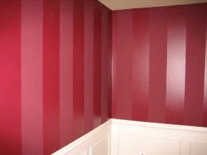 Paint Stripes Using Same Color With Flat Semi Gloss Sheen Interior Paint Wall Painting Techniques Living Room Paint