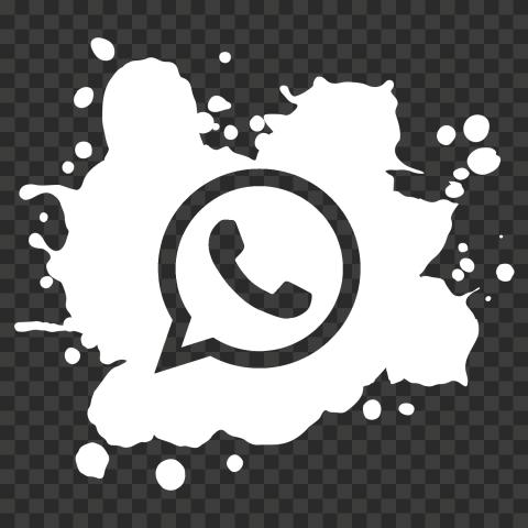 Hd Paint Splash White Outline Whatsapp Wa Whats App Icon Png Paint Splash App Icon Painting