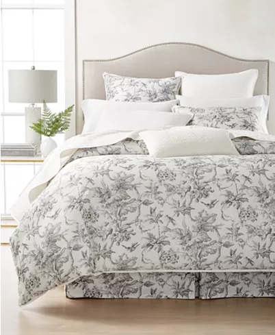 Hotel Collection Classic Botanical Toile Cotton Full Queen Duvet Cover Created For Macy S Reviews Duvet Toile Bedding Hotel Collection Bedding Collections