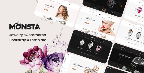 Monsta Jewelry Bootstrap 4 Template Woo