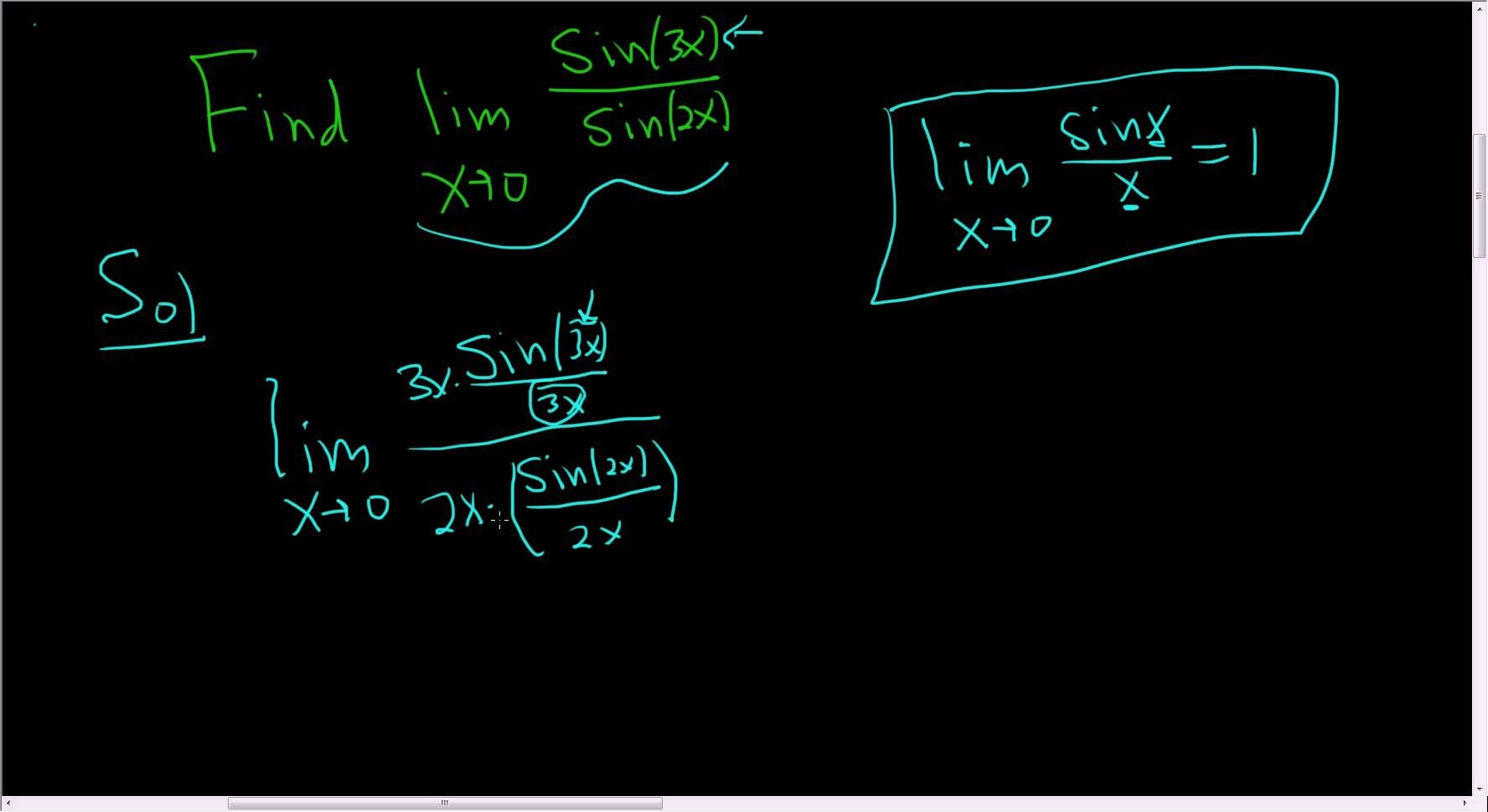 Finding a limit involving sinxx as x approaches zero