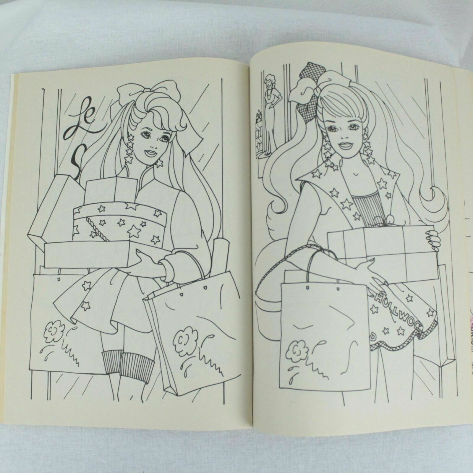 Vintage Barbie And Friends Golden Books Giant Coloring Book Used 7