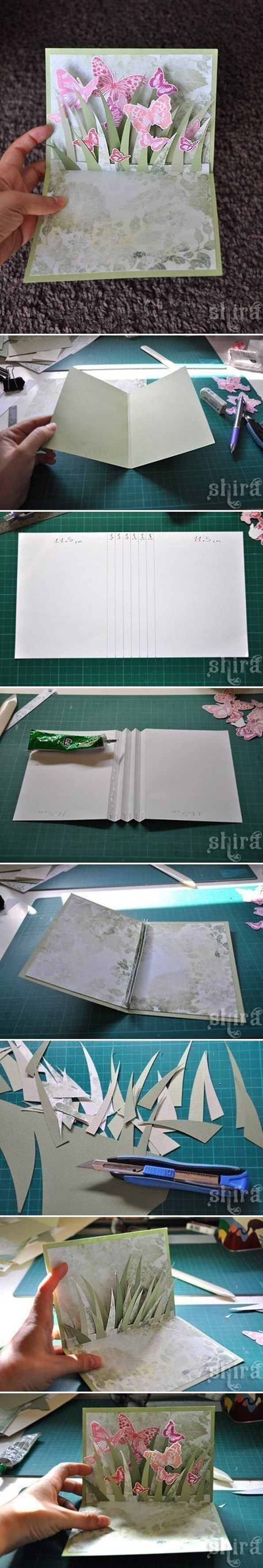 How To Hand Made 3d Greeting Card Step By Step Greeting Card Hand