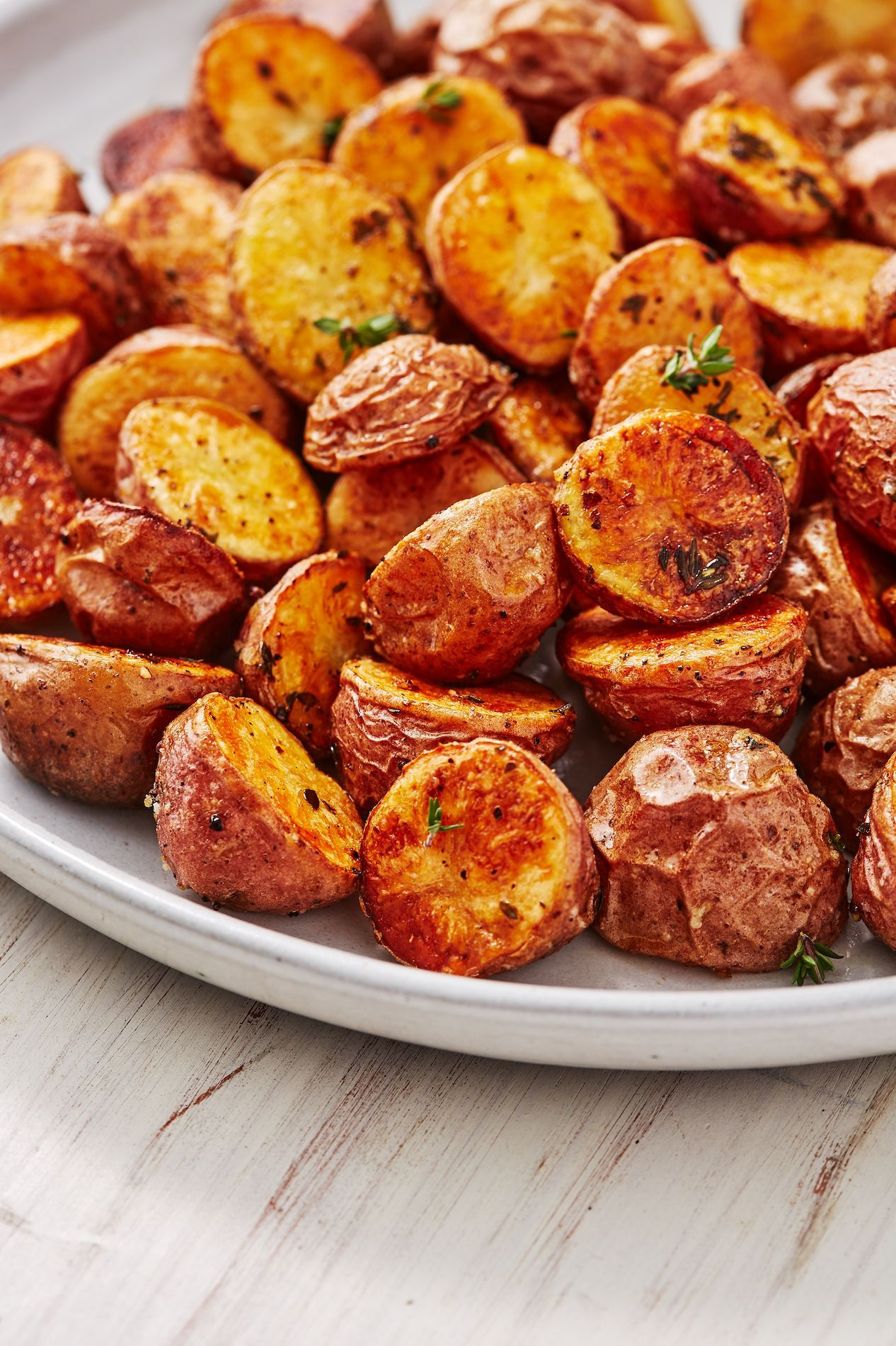 Roasted Red Potatoes Recipe Roasted Baby Potatoes Red Potatoes Healthy Cooking Recipes