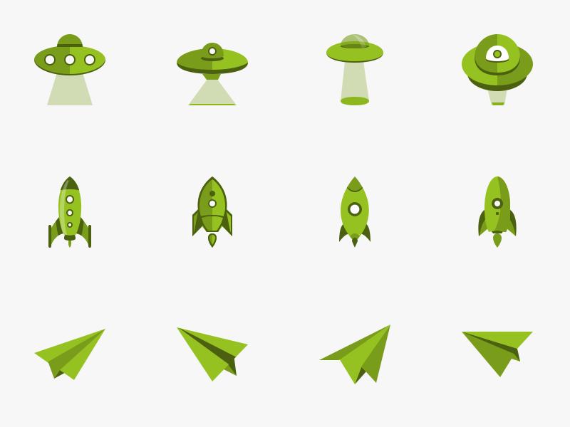 06 UFO - 로켓 - 종이 비행기