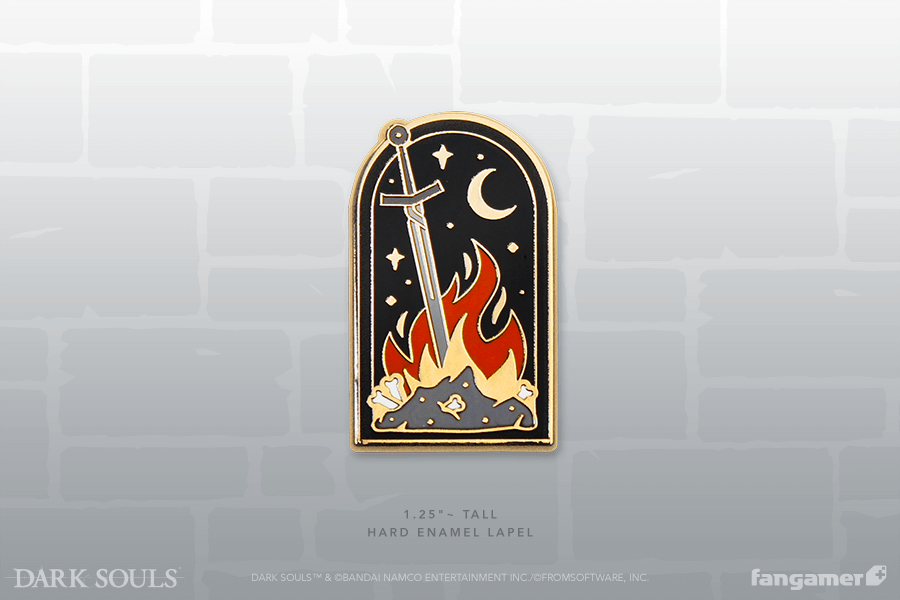Bonfire Enamel Pin Dark Souls Enamel Pins Dark Souls Patches