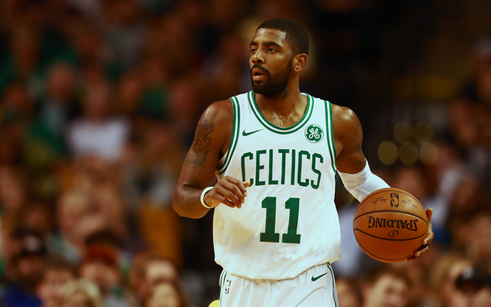 Download wallpapers NBA, Kyrie Irving, 4k, basketball stars, match, Boston Celtics, Irving, basketball