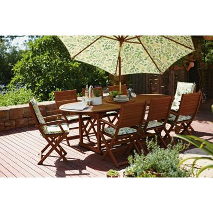 Peru Seater Extending Garden Furniture Set At Homebase Be