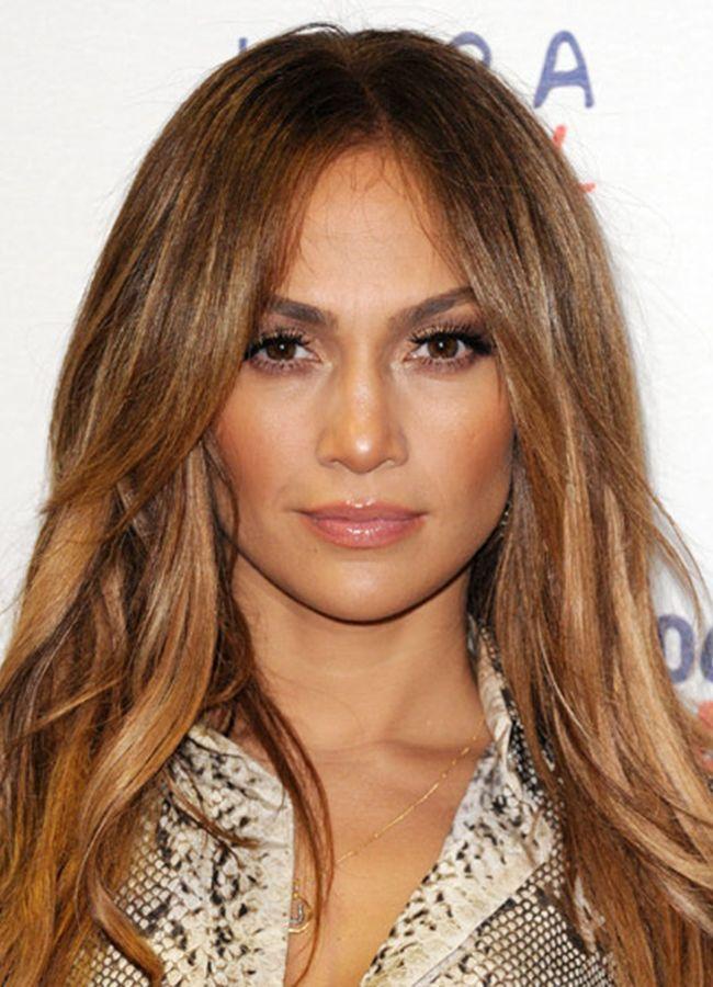 Jennifer Lopez Caramel Brown Highlights Jennifer Lopez