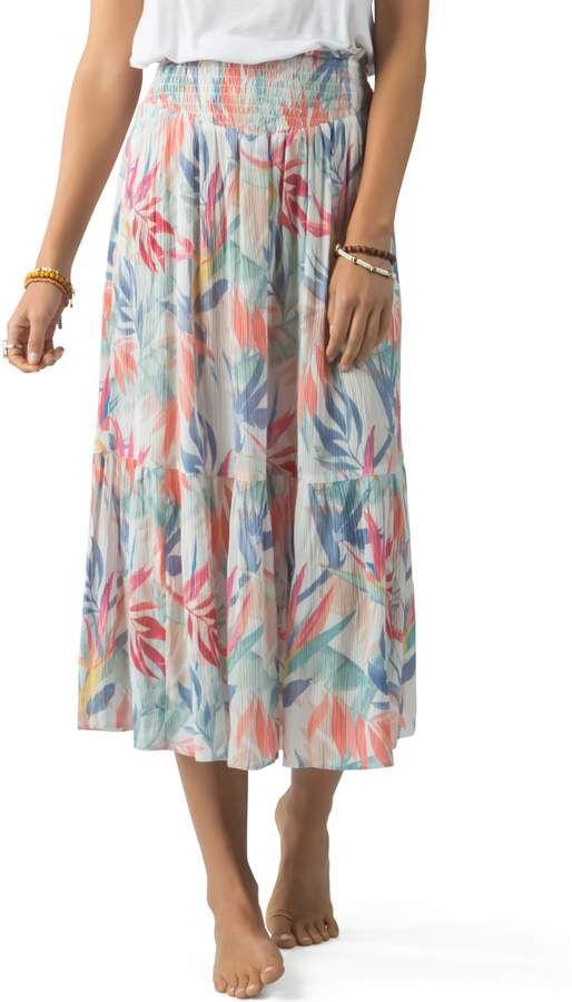 8e0abbddb7 Rip Curl Sea Breeze Tiered Midi Skirt in 2019   Products   Midi ...