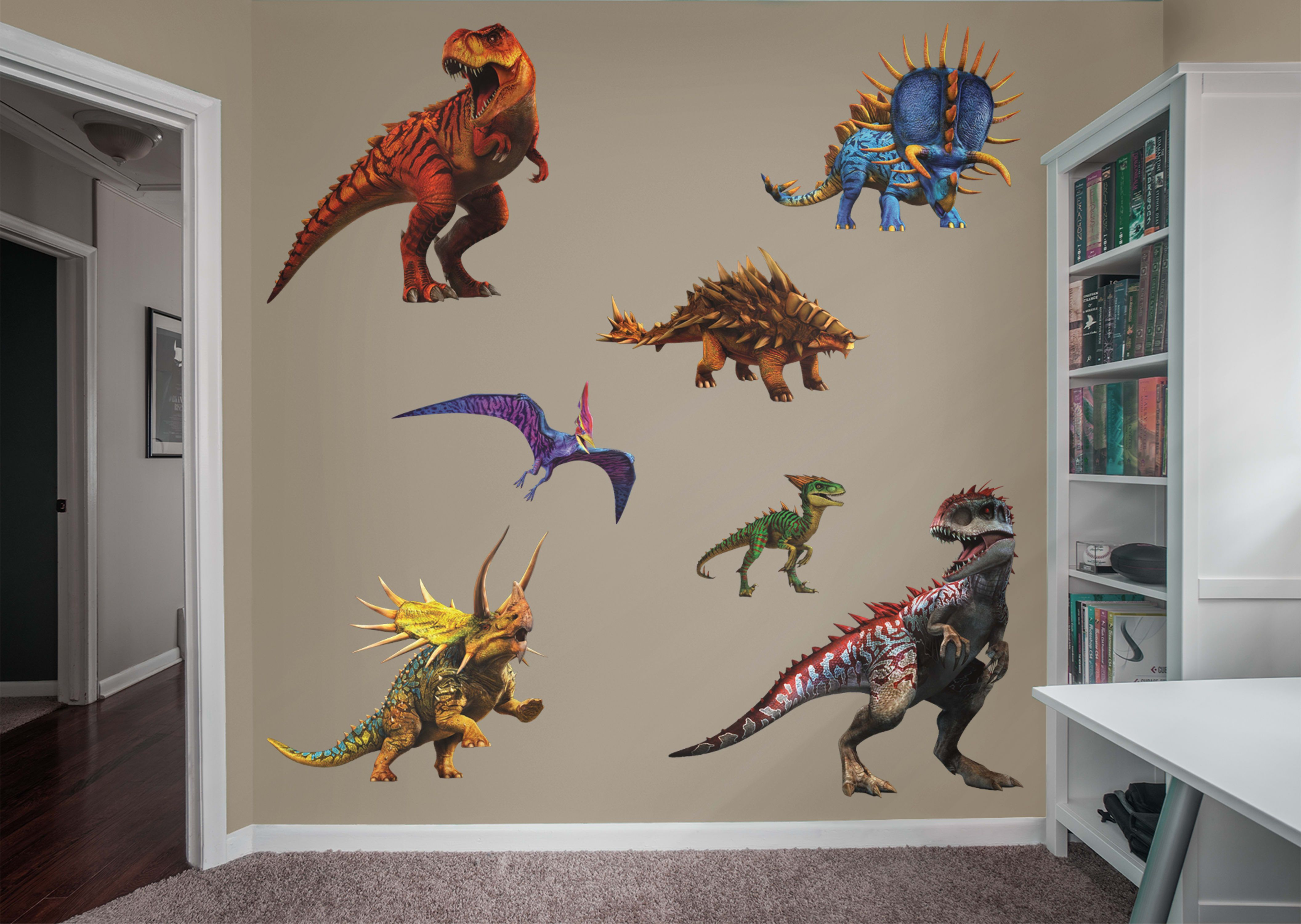 Jurassic world hybrid dinosaurs collection wall decals walls and