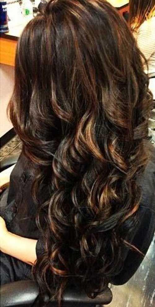 25 Long Brun Fonce Coiffures Coiffures Elegantes Et Modernes Cabello Hermoso Peinado Y Maquillaje Color De Cabello