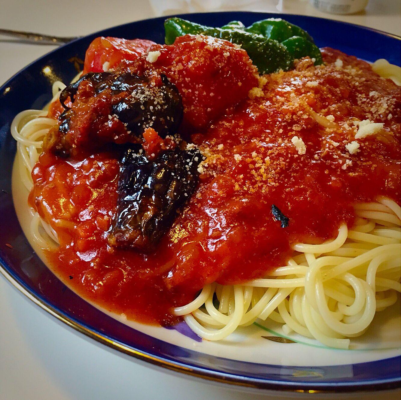 particolare salsa pomodoro pasta in Majorika