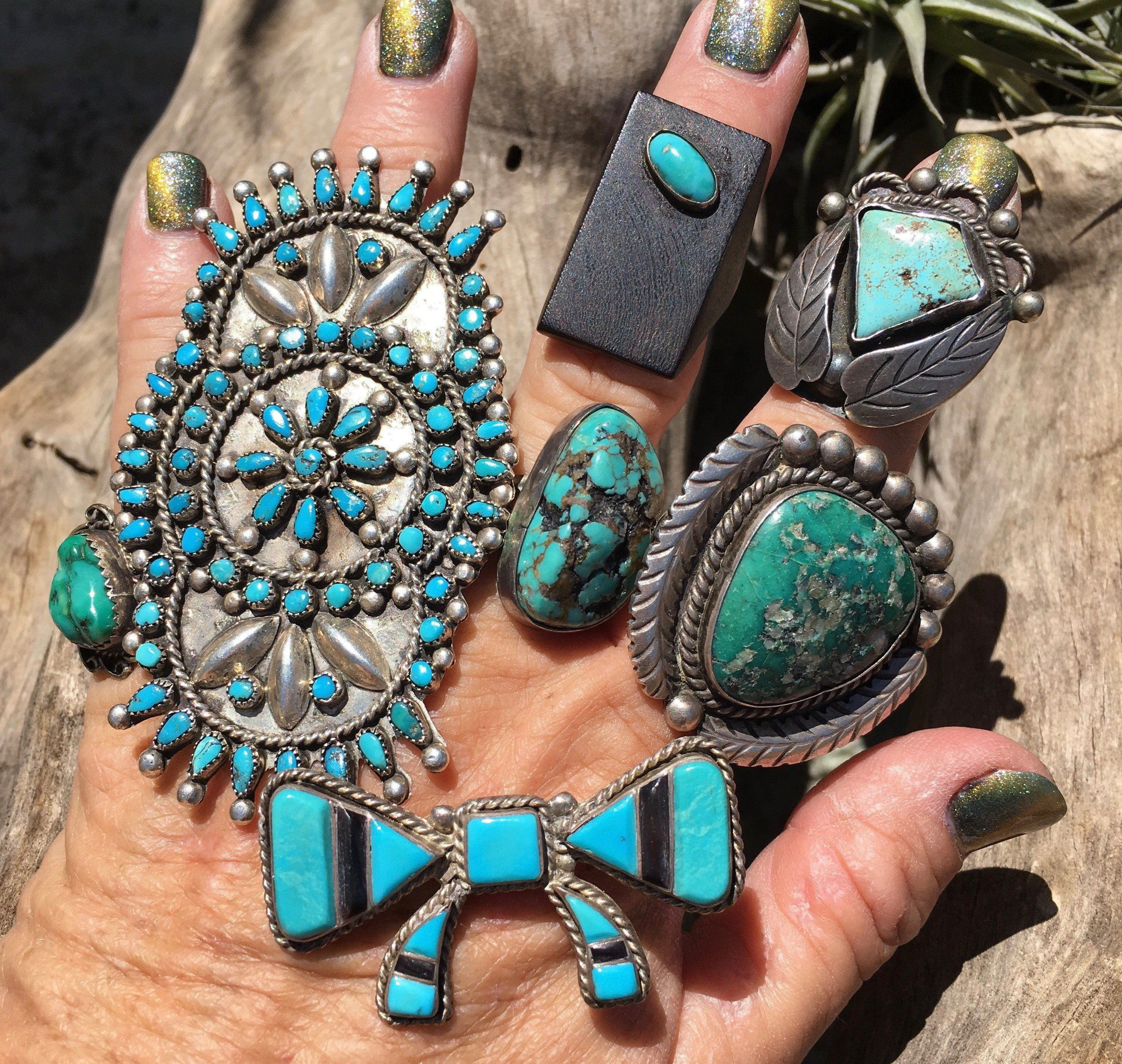 Early Navajo Ring Set With A Diamond Shaped Natural Turquoise Stone Size A Tight Size 5 Measures 1 1 8 Turquoise Natural Turquoise Silver Turquoise Jewelry